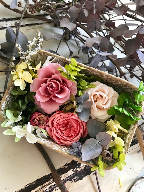 Image of Flower Box - Coral Basket
