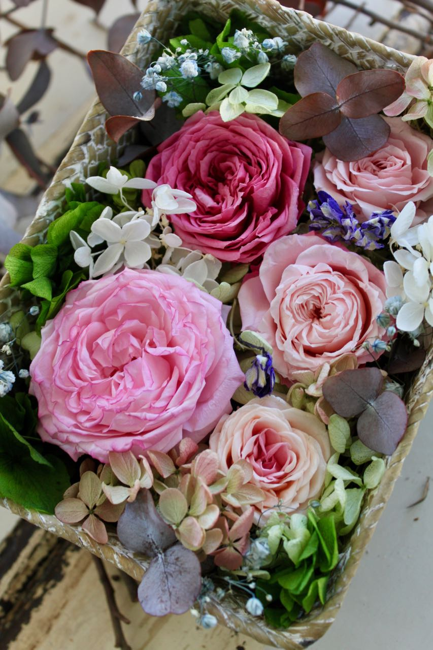 Image of Flower Box - Pink Basket L