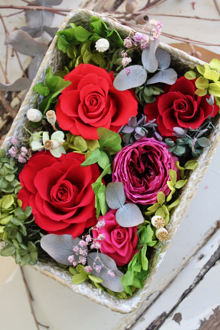Image of Flower Box - Red Basket L