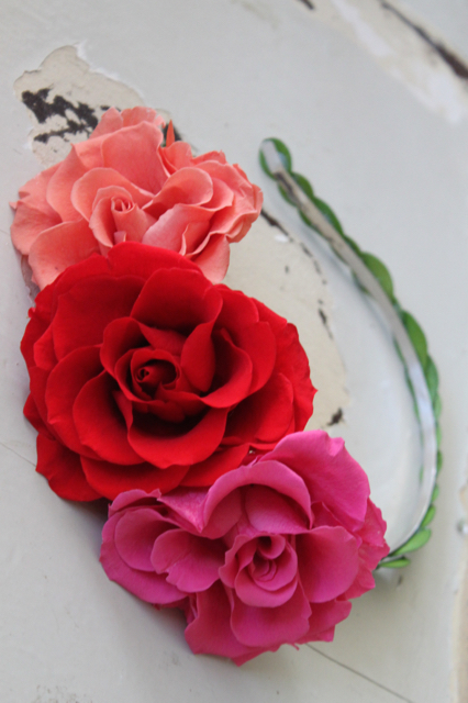 "Image of ""Flower Headband - Pink Red"""