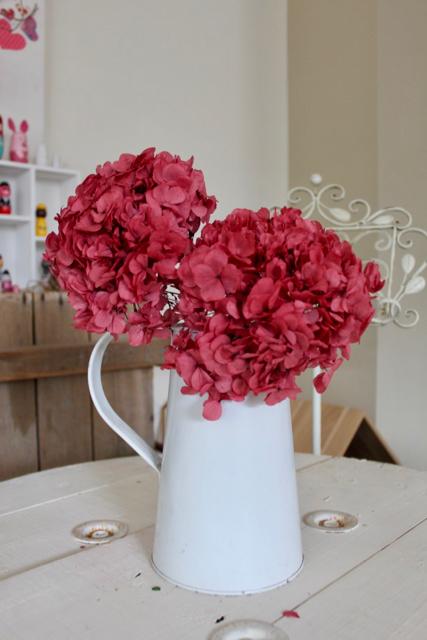 Image of Hydrangea on Natural Stem - set of 2 - Rose Pink