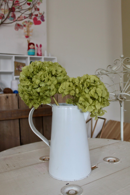 Image of Hydrangea on Natural Stem - set of 2 - Soft Green