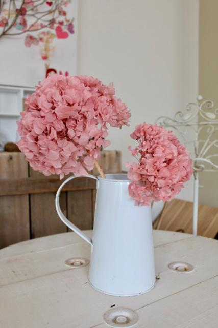 Image of Hydrangea on Natural Stem - set of 2 - Soft Pink