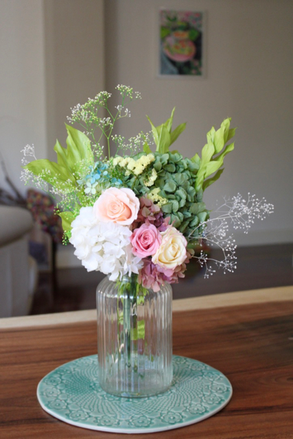 Image of Rose + Hydrangea Bouquet - Natural