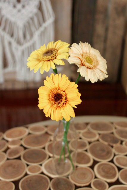 Image of Small Bouquet - 3 Yellow Gerbera