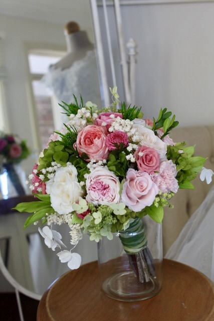 "Image of ""Wedding Bouquet - garden pink"""