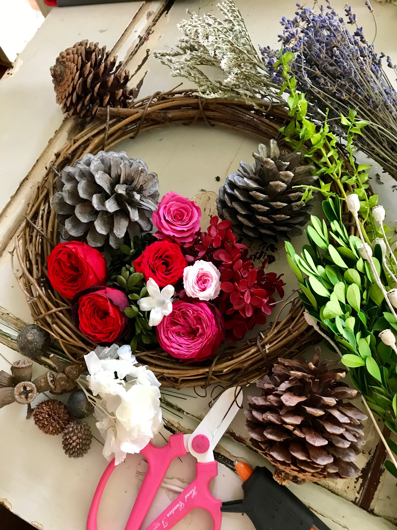 Image of WORKSHOP - Preserved Flower Wreath - Japanese Class 16th Dec